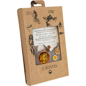 Forestia Heater Comida Outdoor Carne 350g, Chicken Madras with Long Grain and Wild Rice